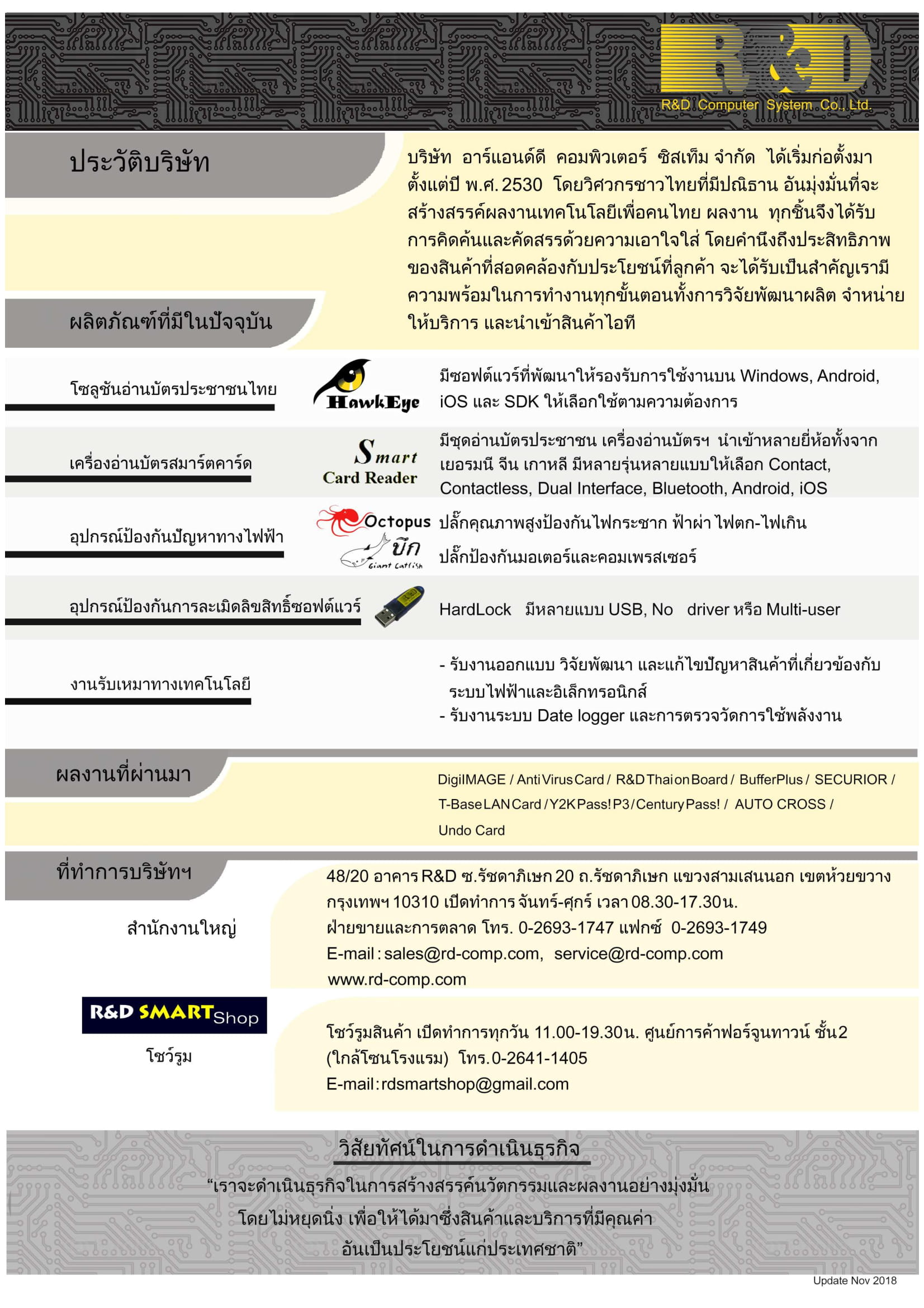 R&D company profile 2018-Thai