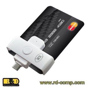 เครื่องอ่านบัตรสมาร์ทคาร์ด USB Type-C สำหรับโทรศัพท์มือถือ รุ่น ACR39U-NF PocketMate II