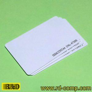 บัตรแตะสีขาว RFID 125KHz แบบบาง รุ่น CLI-T08 (แพ็ค 3 ใบ)