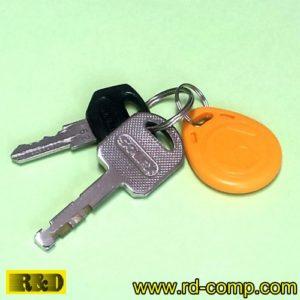 พวงกุญแจ RFID/EM4100 125KHz รุ่น TKL28Y (แพ็ค 3 ชิ้น)