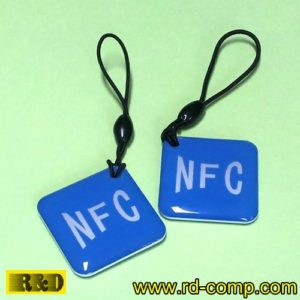 พวงกุญแจอีพ็อกซี RFID/NFC แบบ MIFARE Classic ขนาด 1K รุ่น TKMS-NFCB (แพ็ค 3 ชิ้น)