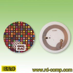 สติกเกอร์กลม NFC Type 1 ลายกราฟิกส์ NFC รุ่น TS1C-NFC