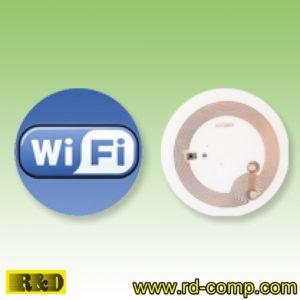 สติกเกอร์กลม NFC Type 1 ลายโลโก้ WiFi รุ่น TS1C-WiFi