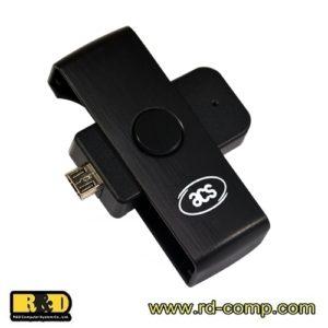 ACR38U-ND PocketMate II เครื่องอ่านบัตรสมาร์ทคาร์ด Micro-USB สำหรับโทรศัพท์มือถือ