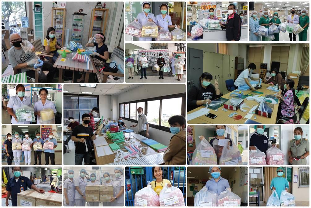 อาร์แอนด์ดีฯ รวมทีมสร้าง Face Shield บริจาคโรงพยาบาลกว่า 10,180 ชิ้น!!!